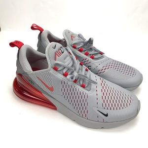 NIKE AIR MAX 270 WOLF GREY UNIVERSITY RED AH8050 018 NEW BOXED UK SIZE 9, 8.5 | eBay